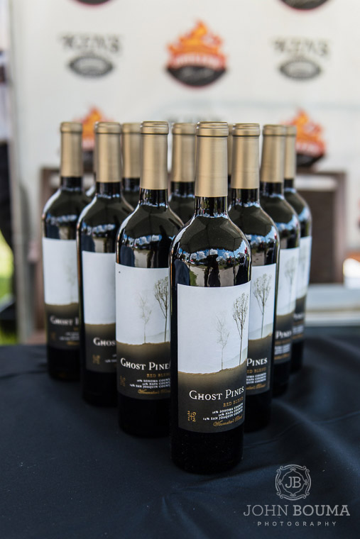 Every grilling team paired their gourmet food with delicious wines.