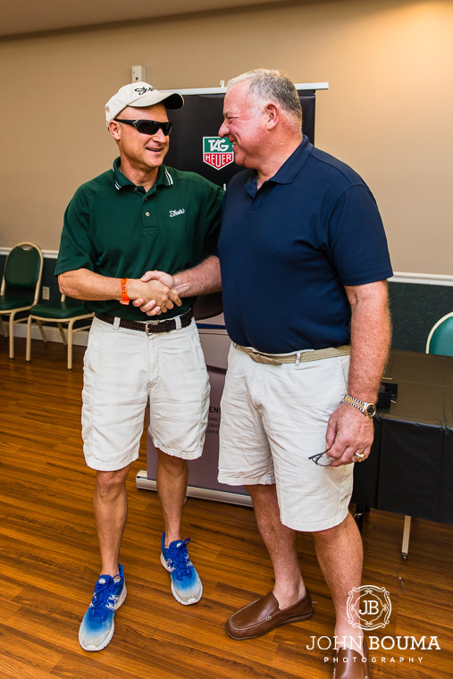 Dave Shula (Don Shula's son and President of Shula's Steak Houses) and former Guard #64 Ed Newman hanging out before the event.